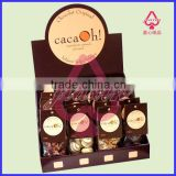 Candy Sugar chocolate cardboard Counter display for promotion/countertop paper display for coco candy