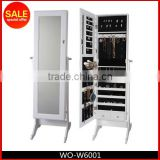 Standing Mirror With Jewelry Storage,Decoration Cabinet,Floor Standing Jewlry Cabinet With Mirror