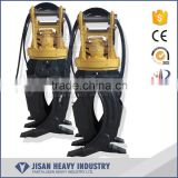 360 degree rotation hydraulic rotating log grapple for 12-16 ton excavator                                                                         Quality Choice