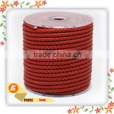lead-free painting edges red leather cord 5mm
