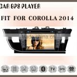 Fit for TOYOTA corolla 2014 8inch right drive car dvd touch screen gps navigation and entertainment system