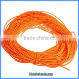 Wholesale Hot 5mm Fluorescent Orange Leather Cords For Jewelry Making 100 Metres/ Bundle PULC-F502