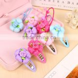 Fashion Flower Dot Baby Girls Hair Clips Cute Kids Hair Accessories Candy Color Children Products Hairpin Elastic Hair Bands