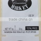 OEM price label heat sensitive thermal label removable sticker shipping barcode label