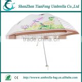 new design one fold white aluminium ribs and two fold fiber ribs fold umbrella for promotion and hot sale
