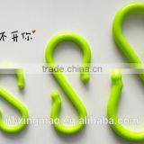 Large small plastic stanchion hanging s shaped hooks bulk /plastic s clips/convenient safety hooks                                                                         Quality Choice