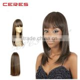 Fashion Ladies Good Quality Grade 7A Brazilian Virgin Remy Hair Lace Front Human Hair Wig
