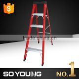 2016 NEW promotion ladder,Yongkang telescopic ladder, fiberglass ladder red colour and light weight                                                                         Quality Choice