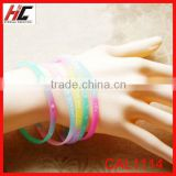 wholesale top sell silicone bracelets colorful glowing silicone wrist band bracelet 16 colors sell on Alibaba china