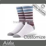Design Own Socks Funny Pattern Jacquard Pure Cotton Customize Logo Trendy Boys Custom Cycling Funky Knitted Socks