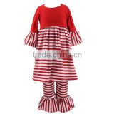 Kaiyo baby girls clothing set boutique stripe dress clothing wholesale children clothing
