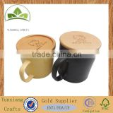 Dongguan factory custom made wooden lids wood caps for tea coffee mug cup