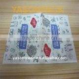Plastic packaging bag for tissue and paper wallet bag