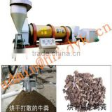 Manufacture Organic fertilizer drying machine/chicken manure dryer cow dung drying machine in hot sale