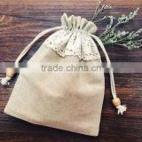 wholesale product cheap price cotton small drawstring bags clothing promotional drawstring bag