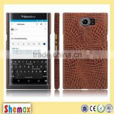 Luxury crocodile grain leather case for blackberry priv,For blackberry priv case