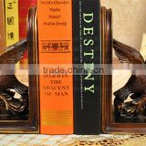 high quality brass flying bird polyresin bookend