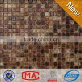 ZTCLJ JY-G-09 Premium Dark Brown Crystal Glass Mosaic Living Room Decorative Cheap Wall Tiles