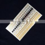 Flash Jewelry Body Tattoo Temporary Gold and Silver Metallic Tattoo Sticker