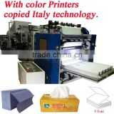 Italy Design Embossing Laminating Printing High Speed Automatic Pocket Facial Tissue Production Line
