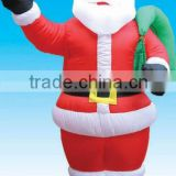inflatable santa with green bag christmas decoration