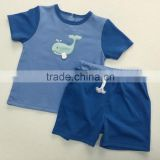 Baby Boy short sleeve Shirts top+Shorts set kids summer casual outfits