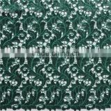 100% polyester african embroidery balckish green lace fabric/beaded sequins bridal lace for garment/christmas accessories