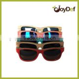 colorful handcraft wooden skateboard sunglasses 2016 new design skateboard wood sun glasses