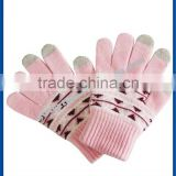 wholesale china hand gloves factory women touch-screen smartphone custom winter gloves