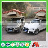 2 persons aluminum canvas hard shell car rooftop tent