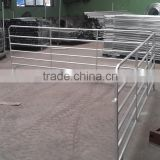 3/5/6 steel rails temporary livestock metal round/square pipe fence panel,temporary horse/cattle yard fence panel for sale