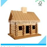 OEM Wooden Log Cabin Bird House