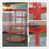 metal steel MDF shelf corner racking shelving unit