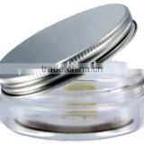 100ml PET wide mouth clear perfume bottle for lotion applicator