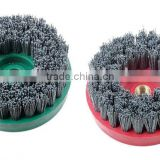 Granite and marble leather stone diamond abrasive brush for artificial stone and quartz
