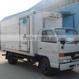 Vegetable and fruits transportation van box trucks/refrigerator truck/freezer box van truck
