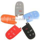 Silicone Remote Smart Control Key 5 Button Car Key Case Cover for Jeep or for Dodge for Chrysler for Fiat