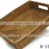 Brown rectangle straw basket & water grass basket & straw tray (factory supplier)