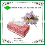 Colorful rectangular tissue box paper woven napkin box