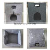 wholesale 2017 trending products wool felt pet accessories bed pet carrier cat carrier cat house for outdoor/ indoor