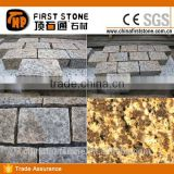Tiger Skin Gold Granite Cube Stone