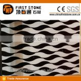 JD159 Black And White Water Jet Marble Designs