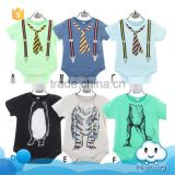 SR-267B fancy kids summer jumpsuit baby bodysuits 100% cotton babies product kids clothes