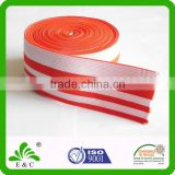 Striped flat webbing garment wide elastic band for sport