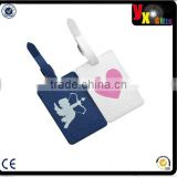 Valentine's Day Gift PU Leather ID Tags Business Card Holder for Carry On Luggage, Baggage ID