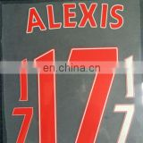 Jersey numbers and letters t-shirt heat transfer sticker soccer jersey player name and numbers