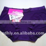 Bamboo fashion design purple women's underwear