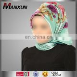 Multi Color Hot-selling Fashion Women Cotton Model Scarf Muslim Head Wrap Hijab Square Islamic Silk Scarf Wholesale