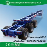 Liba 3 axle 20ft 40ft 45ft Skeleton Container Transport Semi Trailer For Sale