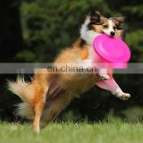 Large Dog Frisbee Silicone Flying Disc Tooth Bite Resistant Outdoor Dog Training Sugar Candy Color Fetch PetToy Dog Pet Supply